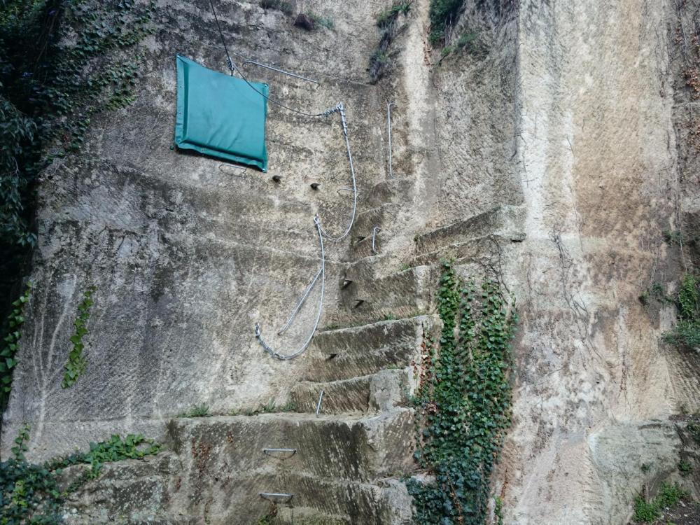 Sortie finale du parcours de la via ferrata de Boisseron