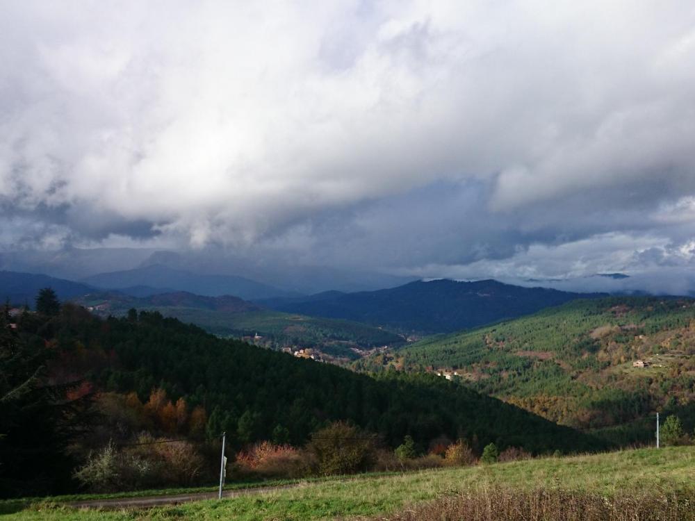 Ciel chargé depuis le col de Portes (Gard)