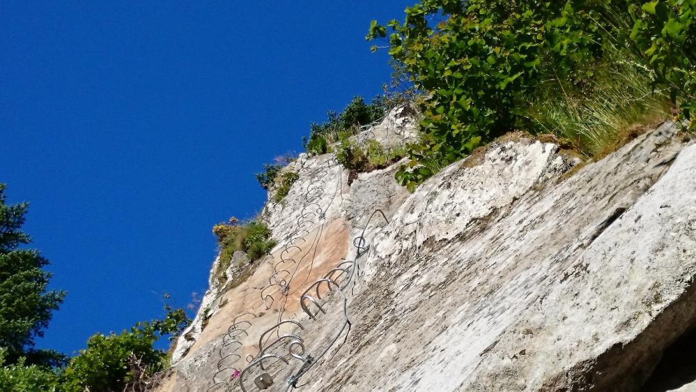 Via du Capucin, un beau mur vertical pour commencer !