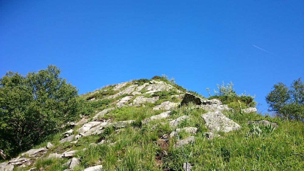Vers la sortie de via et le sommet du Capucin