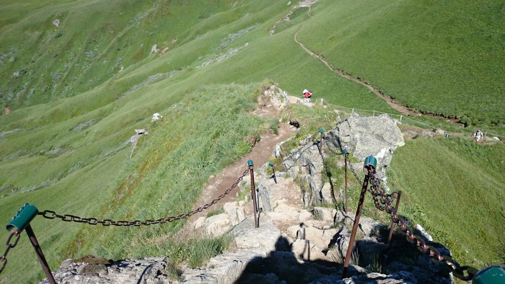 Le passage des chaînes peu avant le Puy de Sancy