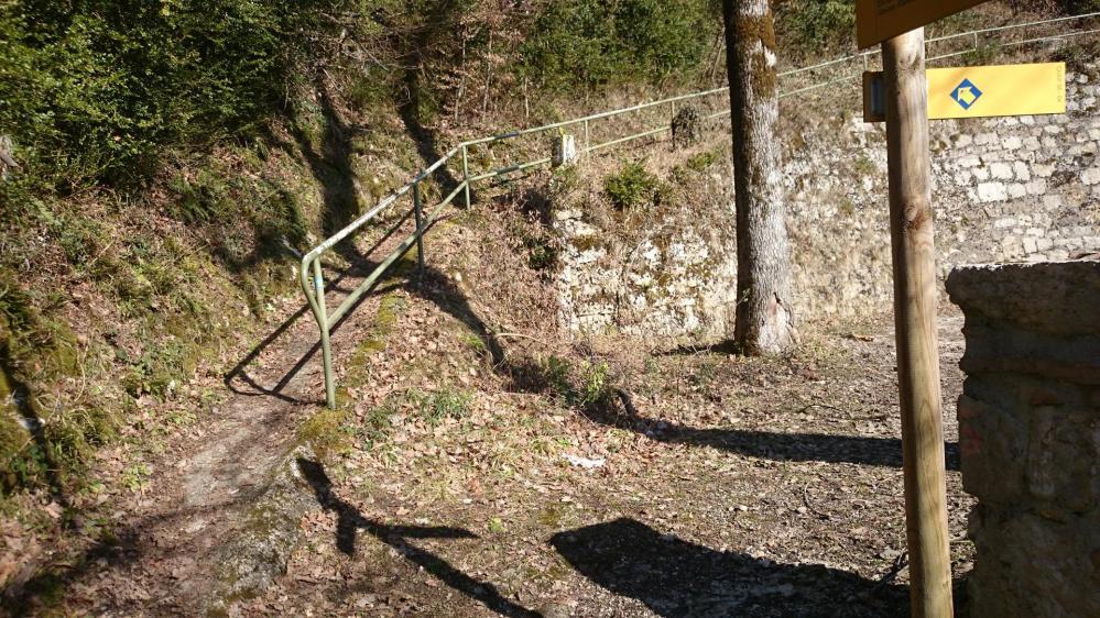 Une des reprises de sentier après traversées de la route du Col du Chat