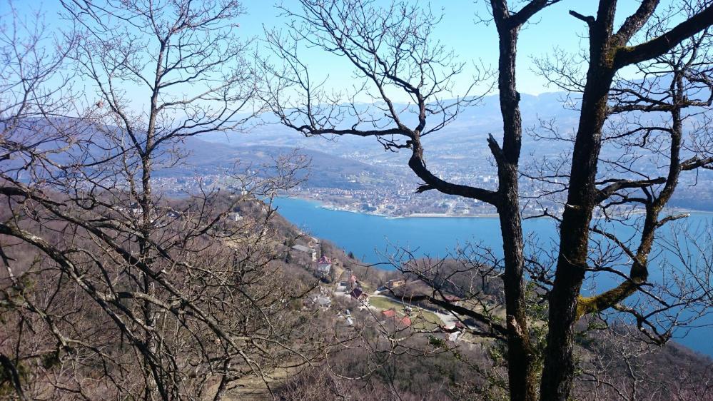le lac du Bourget accompagne le randonneur tout le long de la montée !