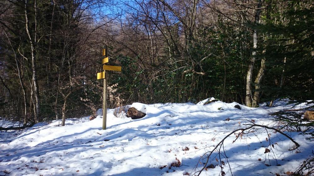 Encore de la neige au mois de mars dans la montée au rocher du Cornillon