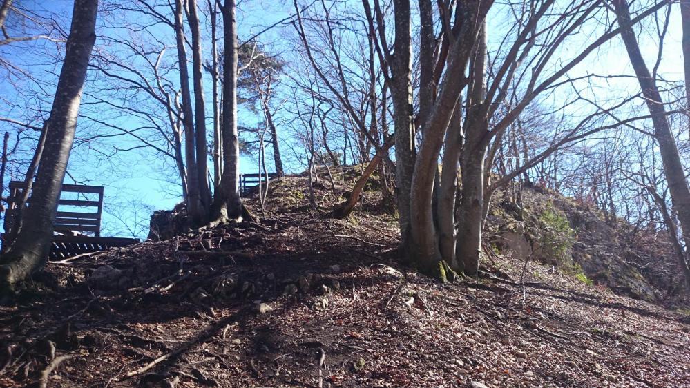 Arrivée au sommet du rocher du Cornillon