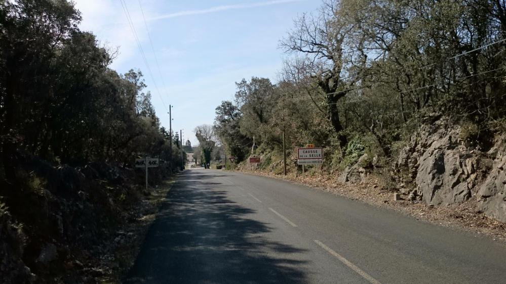 Causse la Selle, sur le plateau au dessus de l' Hérault