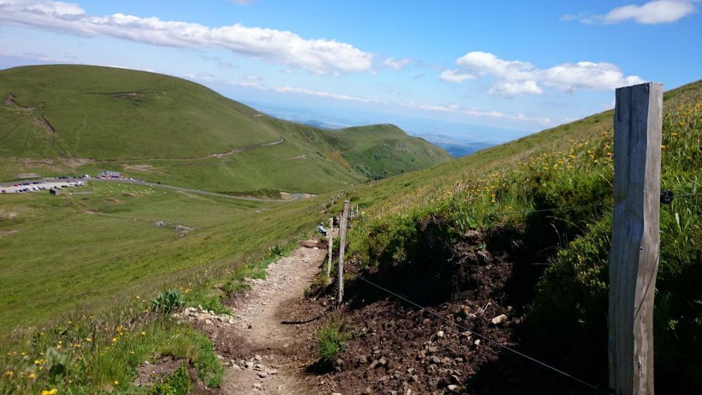 Sentier de descente au col de la Croix Morand