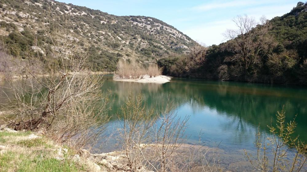 Retour au bord de l' Hérault après Causse la Selle