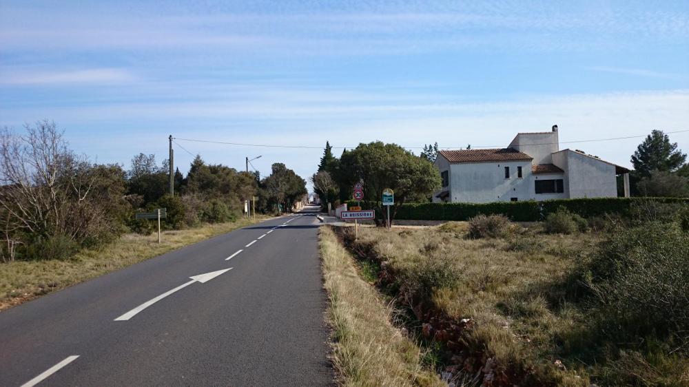 La Boissière sur la route qui mène à Grabels