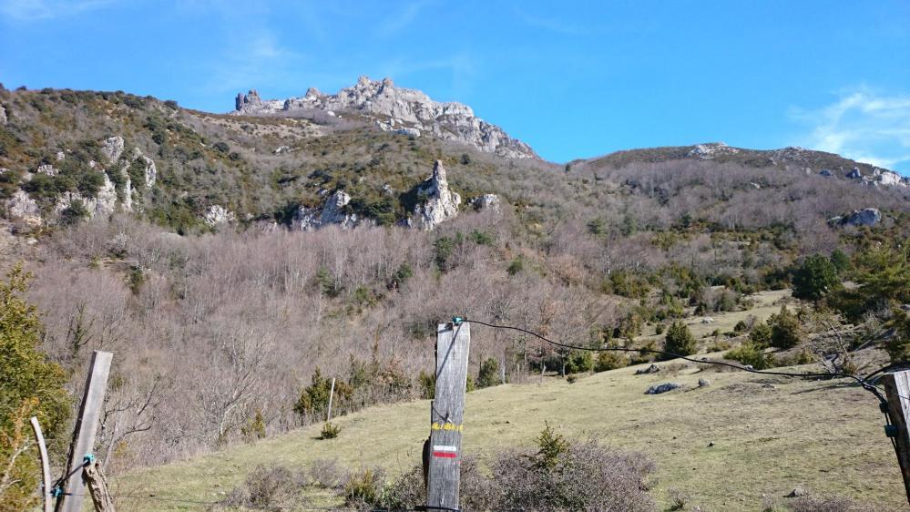 Et oui, le Bugarach c'est tout la haut et encore on ne voit pas le sommet !