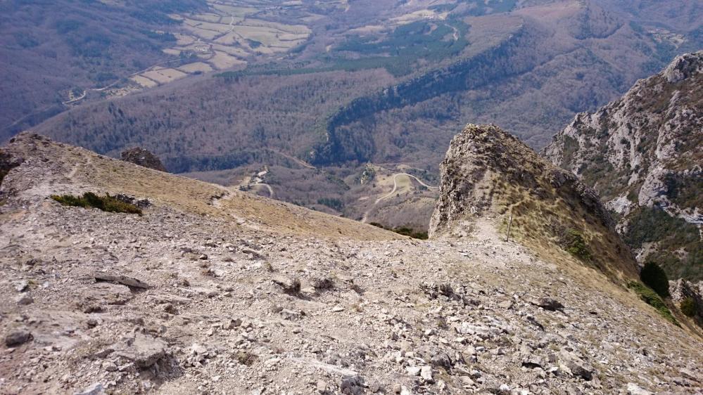Pech de Bugarach ...vue en contrebas dans la montée au sommet !