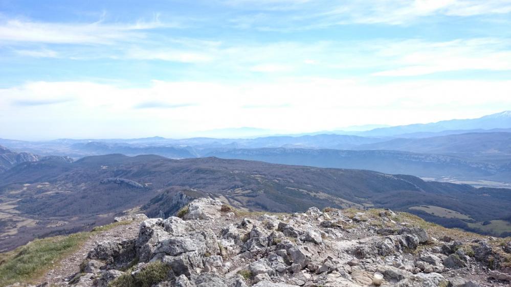 Pech de Bugarach ...Vue depuis le sommet !
