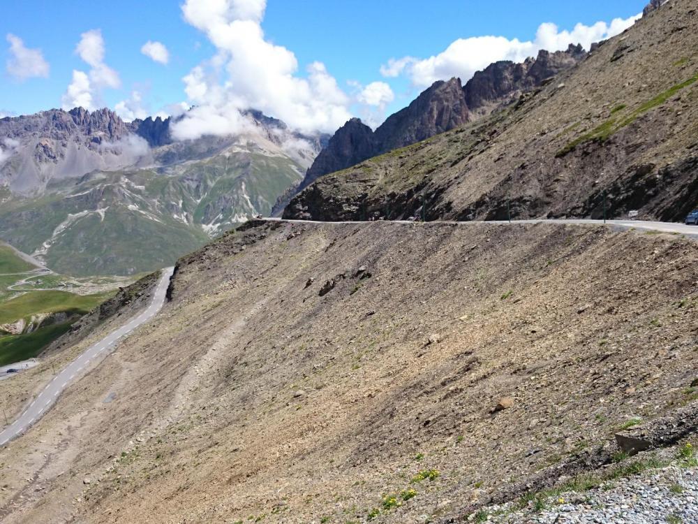 la dernière rampe avant le sommet du galibier