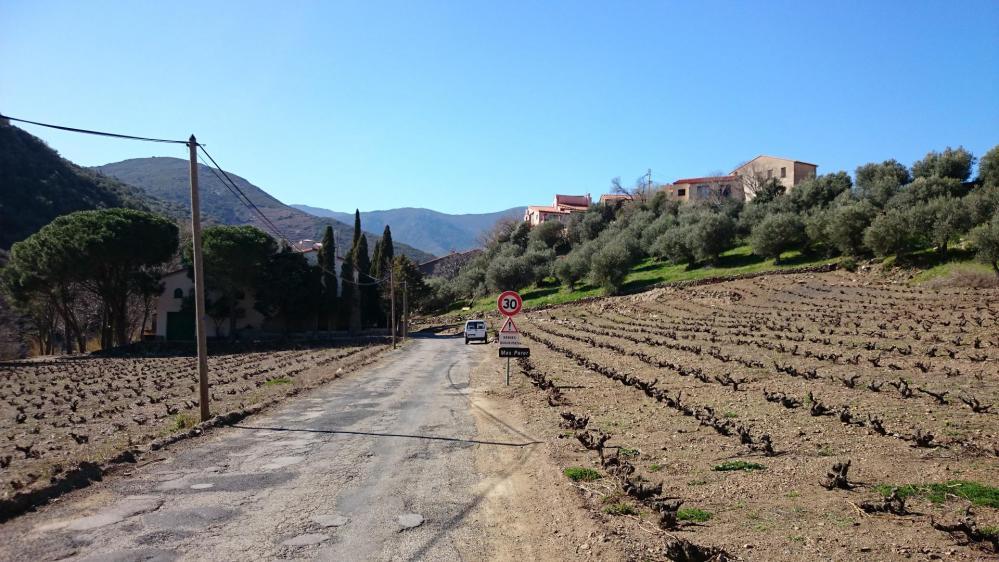 Une route du col de Banyuls très dégradée du côté français !