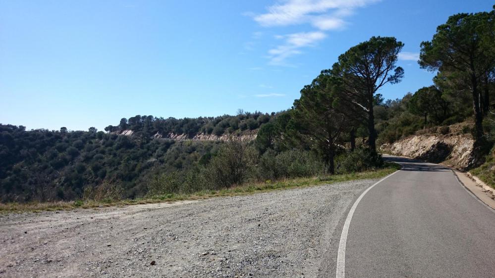 Et ensuite une belle montée vers  le parc naturel des Albères