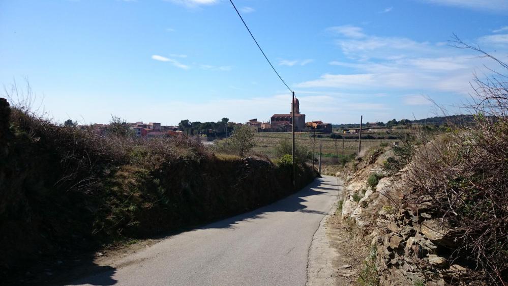 Premier village depuis le col de Banyuls, Espolla