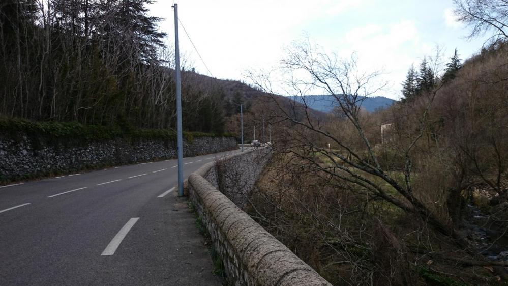 Départ d' Avèze en direction de Montdardier, ça monte doucement !