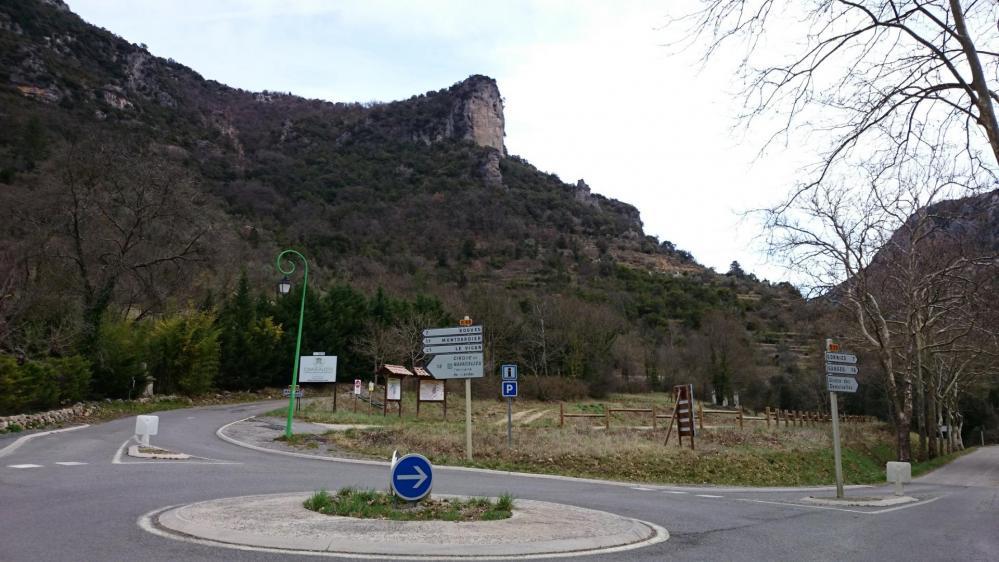 Bifurcation à Madières pour quitter la vallée de la Vis en direction de Montdardier