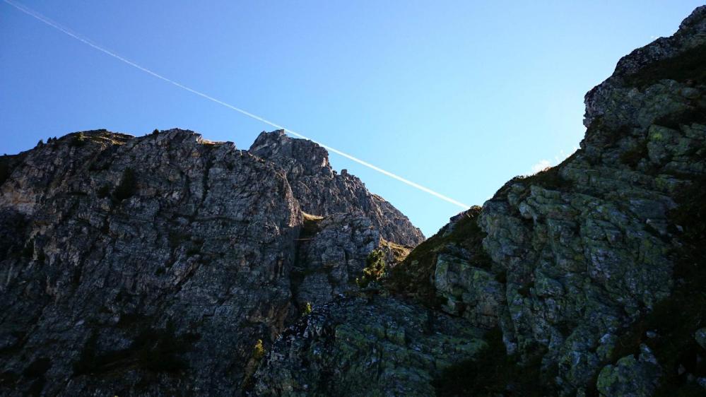 Le site de la via ferrata de la falaise des Bourtes à la Plagne