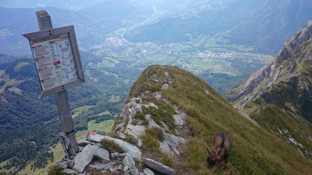impressionnante ligne de crête, 100 m sous le sommet du Charvin