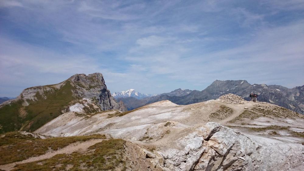 Le sommet du Petit Mont Blanc ... devant son Grand Frère ... le Mont Blanc !