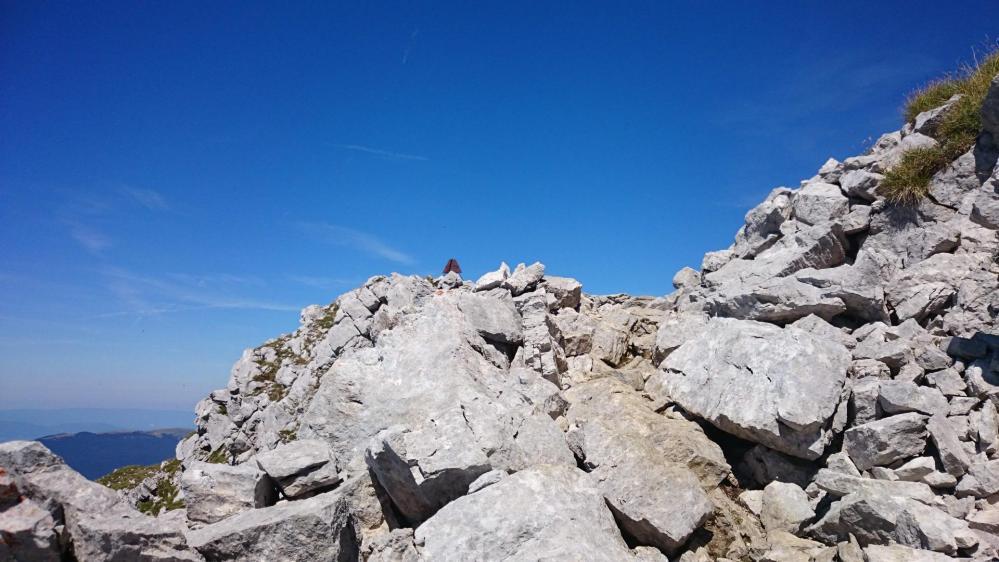 En approche du sommet du Mont  Trélod