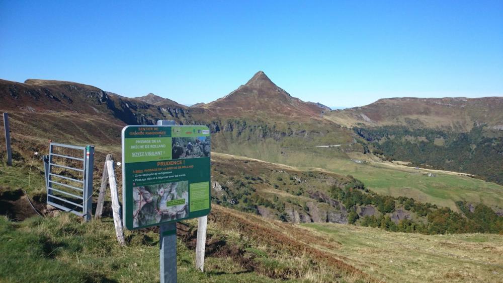 Le Puy Mary en vue juste avant les fours de Peyre Arse