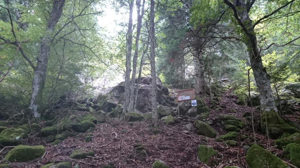 Le départ de la via ferrata des rochers de Ronzier (secteur 2)