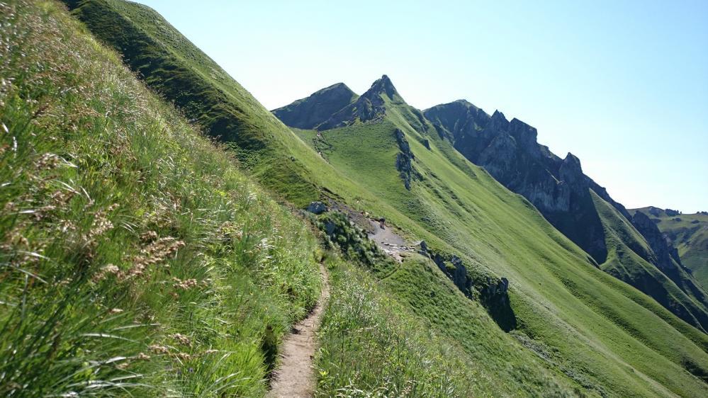 Sentier d' approche du Puy de Sancy