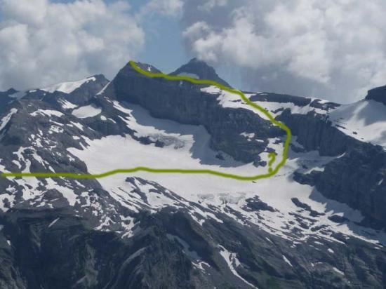 Itinéraire de montée du Grand Ruan