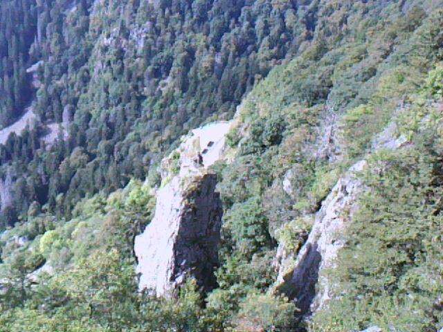 les rochers au dessus du col de la Schlucht