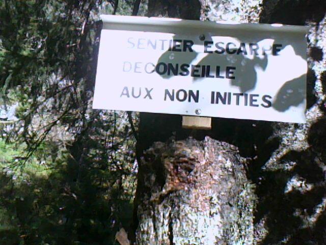 sentier du Hirschsteine : mise en garde !