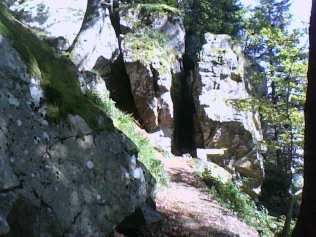 cheminée de départ du sentier aménagé du Hirschsteine