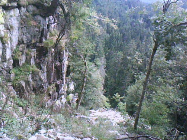 le couloir de remontée sur le côté des Hrschsteien (vosges)