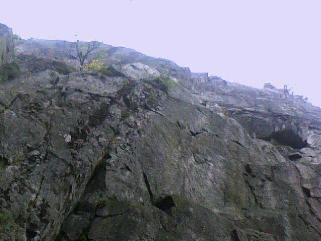 le rocher d 'escalade du Tanet