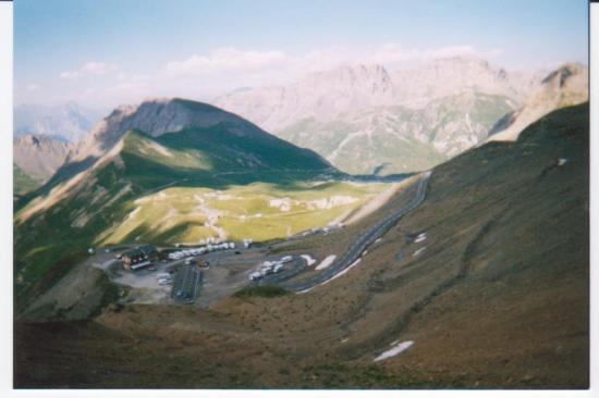 Vue sur le tunnel du col du Galibier (07/2003)