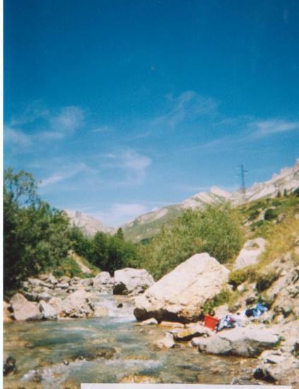 Première lessive dans le col du Lautaret (juillet 2003)