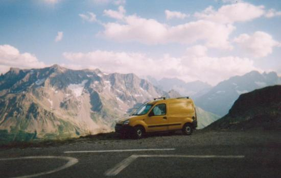 Première vadrouille en Kangoo au col du Galiber en 2003