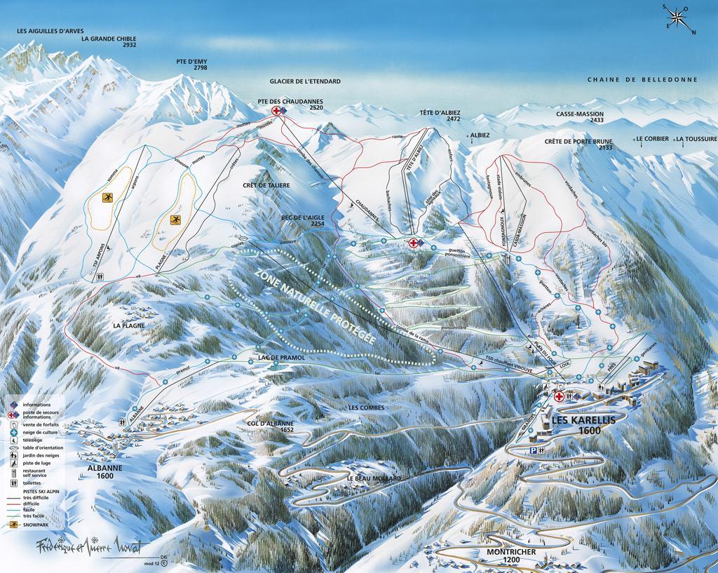 Karellis site alpin