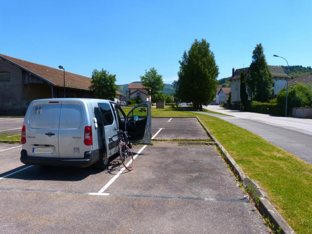 au départ du Thillot sur le parking du gymase