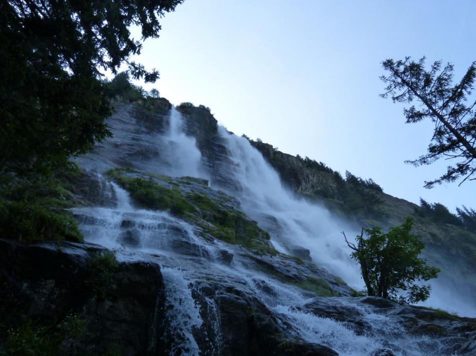 la cascade de la Fare à Vaujany