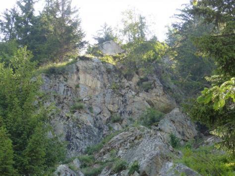 deuxième partie commune aux vias ferrata de la cascade et des passerelles à Vaujany