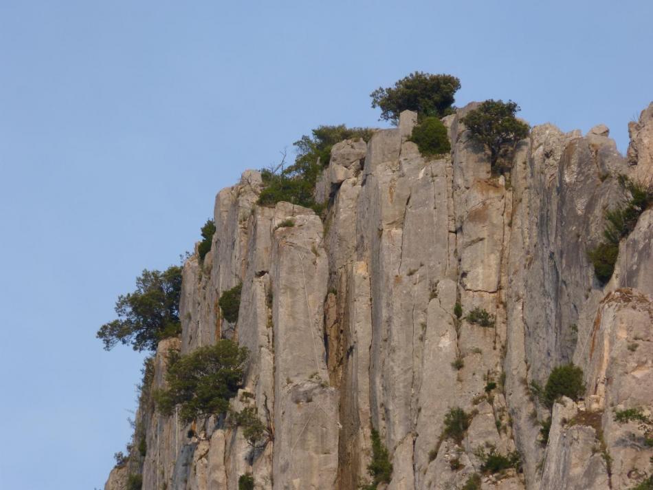 rocher St Julien, future via ferrata de Buis les Baronies, belles verticales !