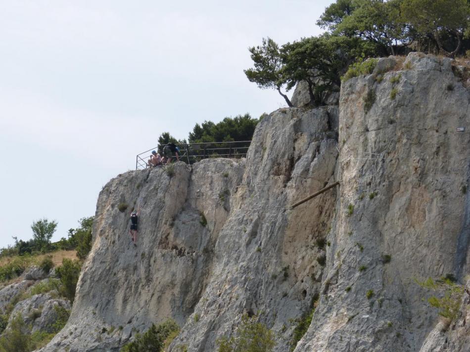 retour au départ de la via de Cavaillon par la deuxième partie de la via natura