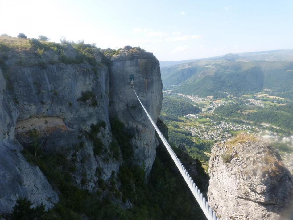 la tyrolienne de la via du Rochefort