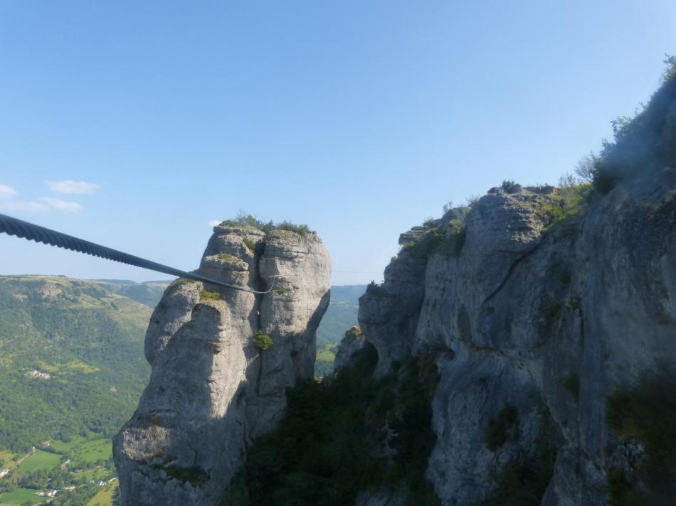 la tyrolienne vue depuis l' arrivée
