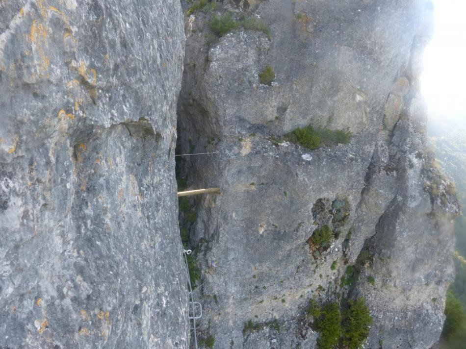 franchissement du canyon du Rochefort par le bas