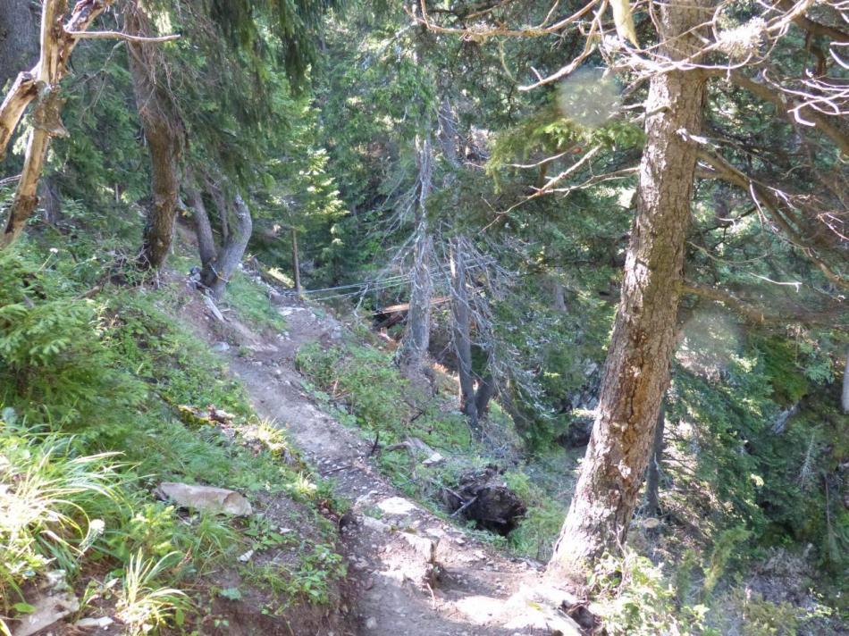 le départ de la via de Val Fréjus