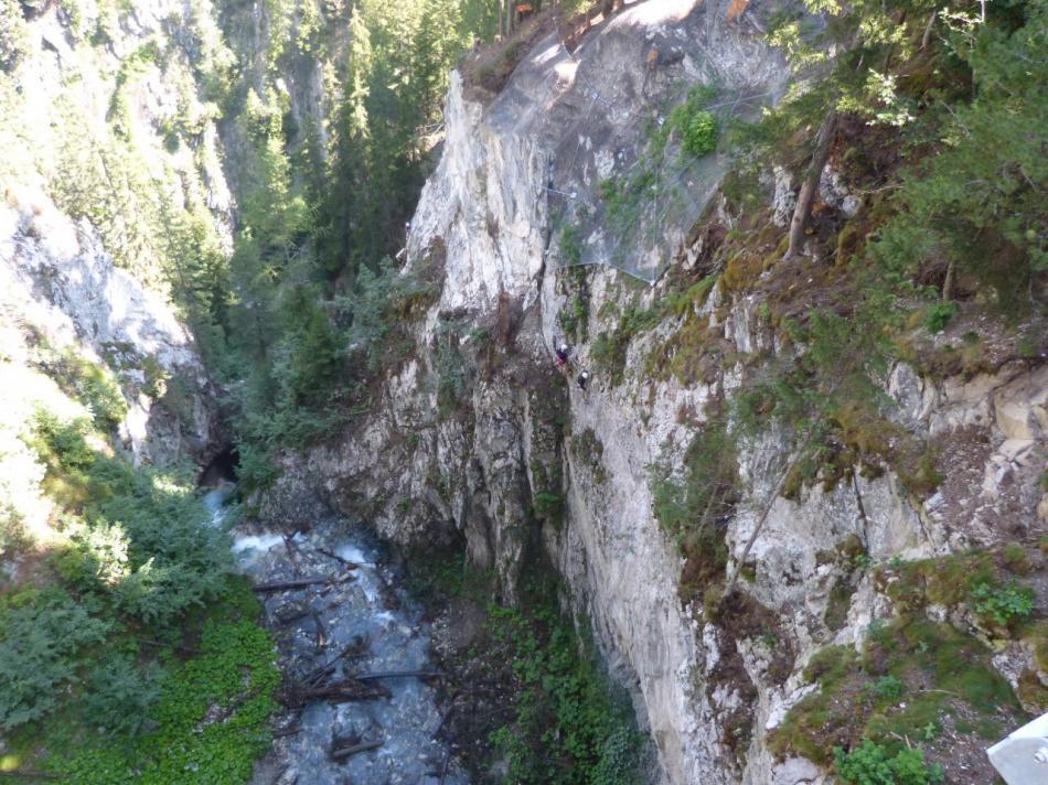 Dans la traversée latérale - via de Val Fréjus