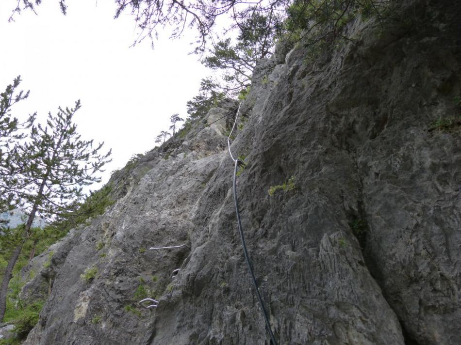 les premiers mètres de la Spalla